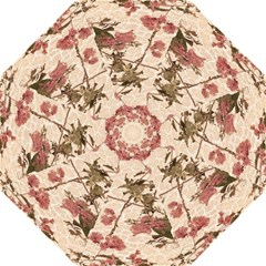 Textured Vintage Floral Design Hook Handle Umbrellas (medium)