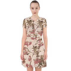 Textured Vintage Floral Design Adorable In Chiffon Dress
