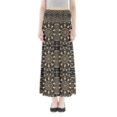 Wonderful Fantasy Pearl Flowers Landscape Full Length Maxi Skirt