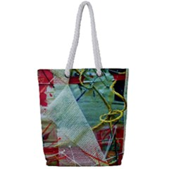 Hidden  Strings Of Purity 2 Full Print Rope Handle Tote (small)