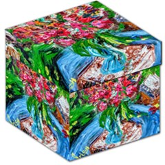 Paint, Flowers And Book Storage Stool 12