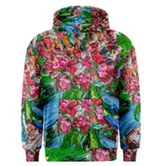 Paint, Flowers And Book Men s Pullover Hoodie