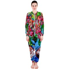Paint, Flowers And Book Onepiece Jumpsuit (ladies)