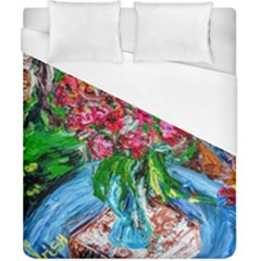 Paint, Flowers And Book Duvet Cover (california King Size)