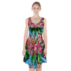 Paint, Flowers And Book Racerback Midi Dress