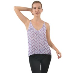 Brick2 White Marble & Purple Glitter (r) Cami
