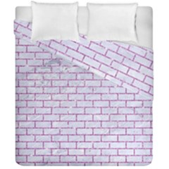 Brick1 White Marble & Purple Glitter (r) Duvet Cover Double Side (california King Size) by trendistuff