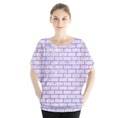 Brick1 White Marble & Purple Glitter (r) Blouse