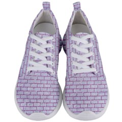 Brick1 White Marble & Purple Glitter (r) Men s Lightweight Sports Shoes