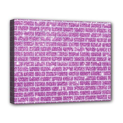 Brick1 White Marble & Purple Glitter Deluxe Canvas 20  X 16