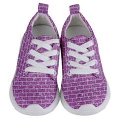 Brick1 White Marble & Purple Glitter Kids  Lightweight Sports Shoes
