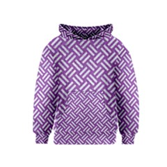 Woven2 White Marble & Purple Denim Kids  Pullover Hoodie