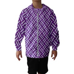 Woven2 White Marble & Purple Denim Hooded Wind Breaker (kids) by trendistuff