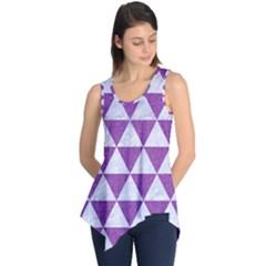 Triangle3 White Marble & Purple Denim Sleeveless Tunic