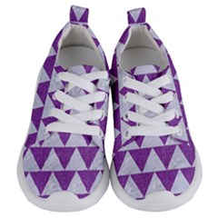 Triangle2 White Marble & Purple Denim Kids  Lightweight Sports Shoes
