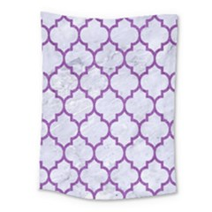 Tile1 White Marble & Purple Denim (r) Medium Tapestry