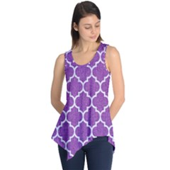 Tile1 White Marble & Purple Denim Sleeveless Tunic by trendistuff