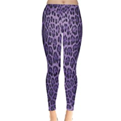 Purple Leopard Print  Leggings