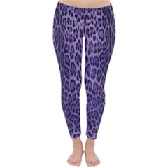 Purple Leopard Print  Classic Winter Leggings