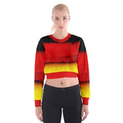 Colors And Fabrics 7 Cropped Sweatshirt