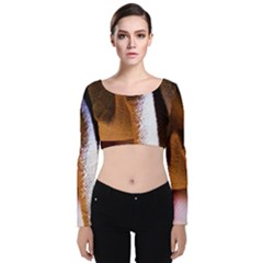 Colors And Fabrics 28 Velvet Crop Top