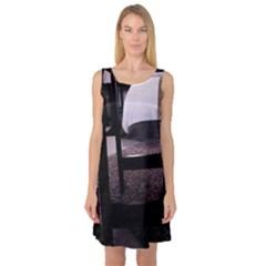 Colors And Fabrics 27 Sleeveless Satin Nightdress
