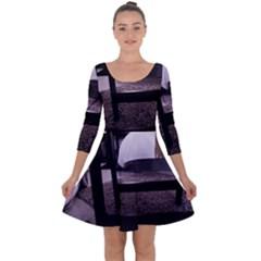 Colors And Fabrics 27 Quarter Sleeve Skater Dress
