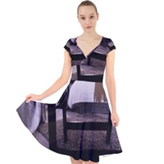 Colors And Fabrics 27 Cap Sleeve Front Wrap Midi Dress