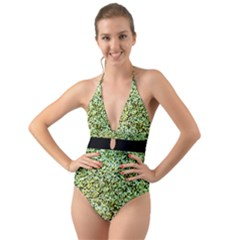 Colors And Fabrics 26 Halter Cut Out One Piece Swimsuit
