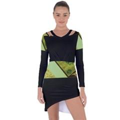 Colors And Fabrics 24 Asymmetric Cut Out Shift Dress