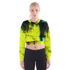Colors And Fabrics 23 Cropped Sweatshirt