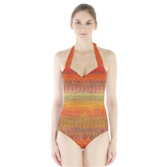 Musical Rainbow Halter Swimsuit