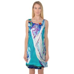 Marine On Balboa Island Sleeveless Satin Nightdress