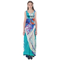 Marine On Balboa Island Empire Waist Maxi Dress