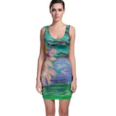 Magnolia By The River Bank Bodycon Dress
