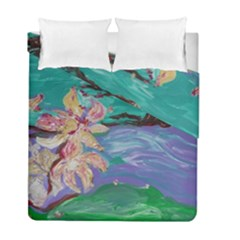 Magnolia By The River Bank Duvet Cover Double Side (full/ Double Size) by bestdesignintheworld