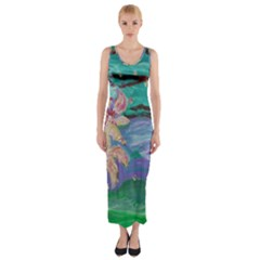Magnolia By The River Bank Fitted Maxi Dress