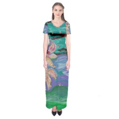 Magnolia By The River Bank Short Sleeve Maxi Dress