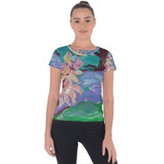 Magnolia By The River Bank Short Sleeve Sports Top
