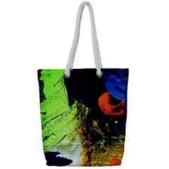 I Wonder Full Print Rope Handle Tote (small)