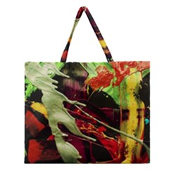 Enigma 1 Zipper Large Tote Bag