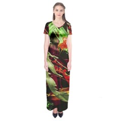 Enigma 1 Short Sleeve Maxi Dress
