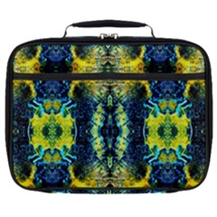 Mystic Yellow Green Ornament Pattern Full Print Lunch Bag by Costasonlineshop