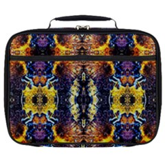 Mystic Yellow Blue Ornament Pattern Full Print Lunch Bag by Costasonlineshop