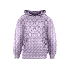 Scales2 White Marble & Purple Glitter (r) Kids  Pullover Hoodie