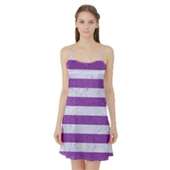 Stripes2white Marble & Purple Denim Satin Night Slip