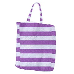 Stripes2white Marble & Purple Denim Giant Grocery Zipper Tote by trendistuff