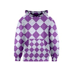 Square2 White Marble & Purple Denim Kids  Pullover Hoodie
