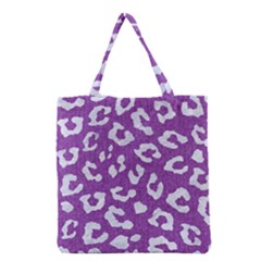 Skin5 White Marble & Purple Denim (r) Grocery Tote Bag