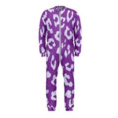 Skin5 White Marble & Purple Denim (r) Onepiece Jumpsuit (kids)